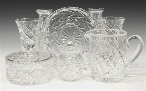 waterford crystal table ls 8 waterford cut crystal table items july mid century