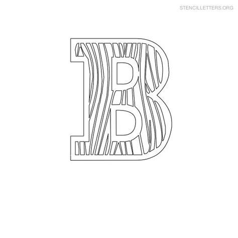 letter stencils for wood stencil letters b printable free b stencils stencil