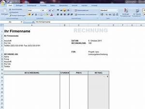 Vorlage Rechnung Excel : rechnung f r dienstleistungen ~ Themetempest.com Abrechnung