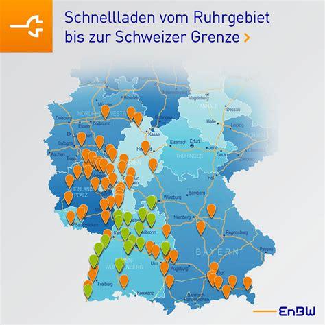 Ladestationen Fuer Elektroautos Interaktive Karte by Elektroauto Schnellladenetz Tank Rast Und Enbw Weiten