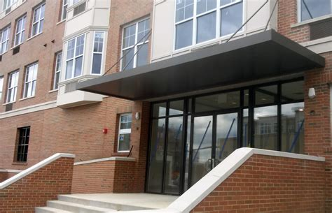 extrudeck extruded aluminum canopy system door canopies retail awnings