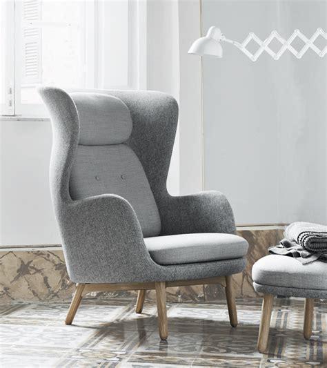 fritz hansen ro ro easy chair fabric wooden base