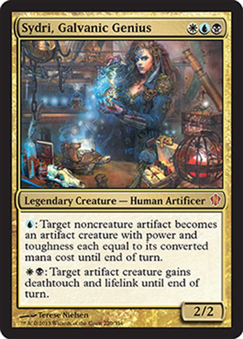 Blue Artifact Commander Deck by Help Me Sydri Galvanic Genius Commander Edh