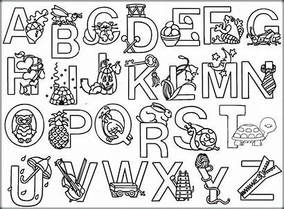 Alphabet Coloring Pages Disney Colouring Printable Getcolorings
