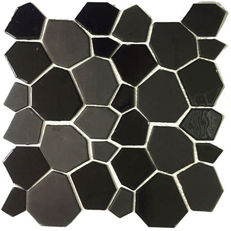 instant mosaic peel and stick glass wall tile 3 in x 6