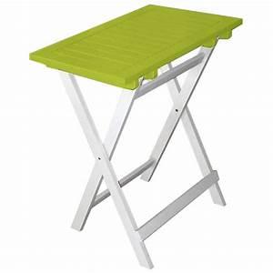 Table Balcon Pliante : petite table pliante en bois fsc color pour balcon terrasse et petit jardin ~ Teatrodelosmanantiales.com Idées de Décoration