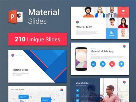 material design powerpoint template  erguen  dribbble