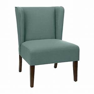 Blue Wing Back Accent Chair Kirklands