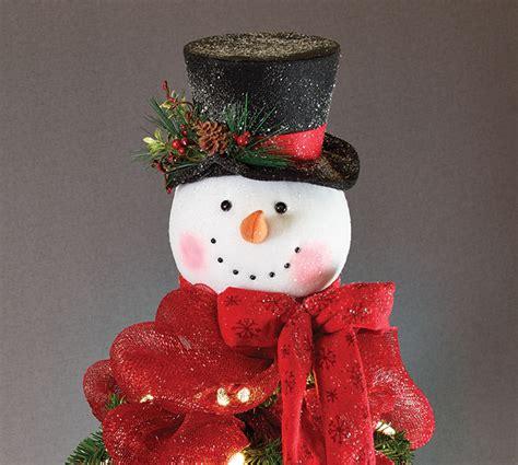 snowman head tree topper