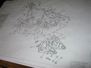 Harley Davidson Softail Frame Blueprint Drawing Hd Poster