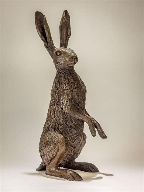 hare  haunches cold cast bronze resin  nick mackman