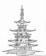 Kleurplaat Tempel Kleurplatenl Kleurplaten Tattoodonkey Ukai sketch template