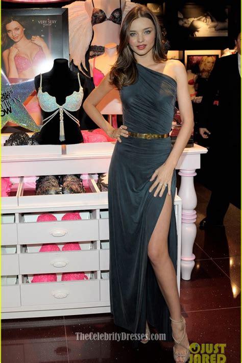celebrity dresses miranda kerr  shoulder dress