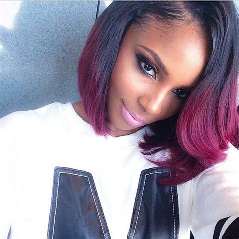 Purple and black ombre bob   African Braids/Weaves