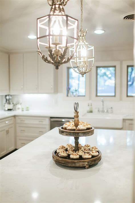 provincial fabrics white chandeliers kitchen