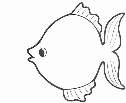 Template Fish Outline Rainbow Templates Drawing Blank