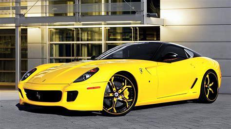 wallpaper ferrari  luxury yellow automobile