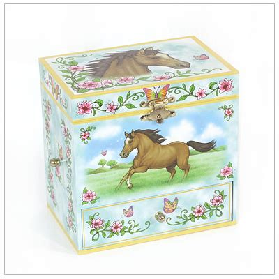 wild horses girls jewelry box