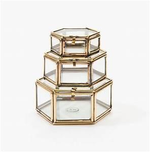 Boite En Verre Deco : boites bijoux en verre forme hexagonale taaora blog mode tendances looks ~ Teatrodelosmanantiales.com Idées de Décoration