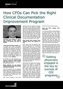 how cfos can pick the right clinical documentation With clinical documentation improvement software