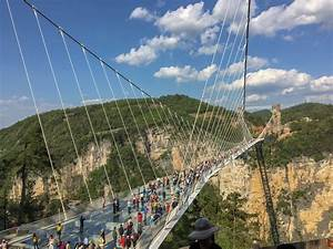 I visited the viral, 1,400-foot glass bridge in China ...