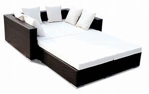 China pe wicker garden sofa bed bz sf015 china wicker for Wicker futon sofa bed