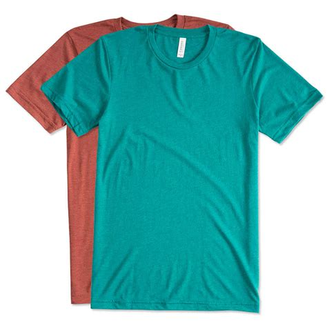 t shirts design custom canvas tri blend t shirt design