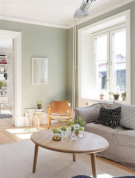 Say hello to the new face of wall decor! Sage grey paint | Green walls living room, Living room ...