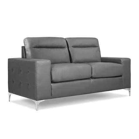 Grey Settee by Argento 3 2 Seater Grey Leather Sofas