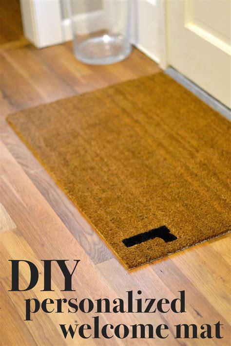 custom door mats easy diy personalized door mat lovely lucky