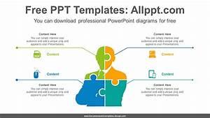 Human Puzzle Matrix Powerpoint Diagram Template Human
