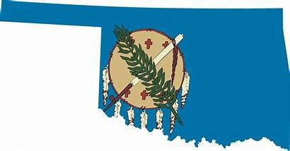 Oklahoma Flag Map Clipart State Clip Vector