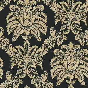 The Wallpaper Company 8 in. x 10 in. Black and Beige ...