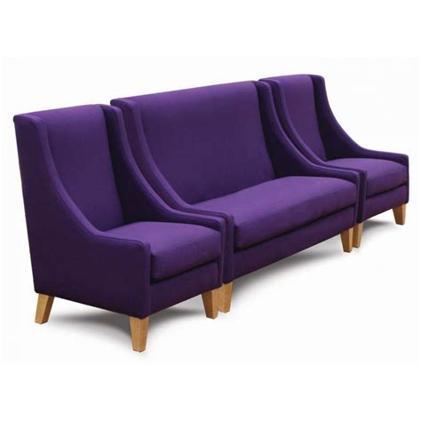 purple furniture cerler purple 3 seater sofa and side chairs from ultimate contract uk