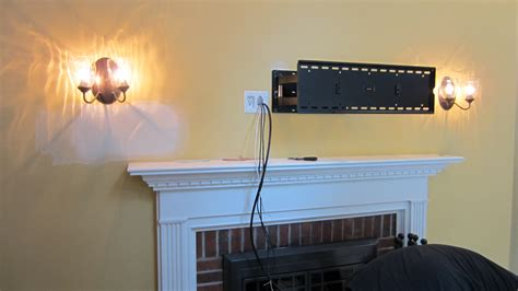 Hide Tv Wires Over Brick Fireplace Image Collections
