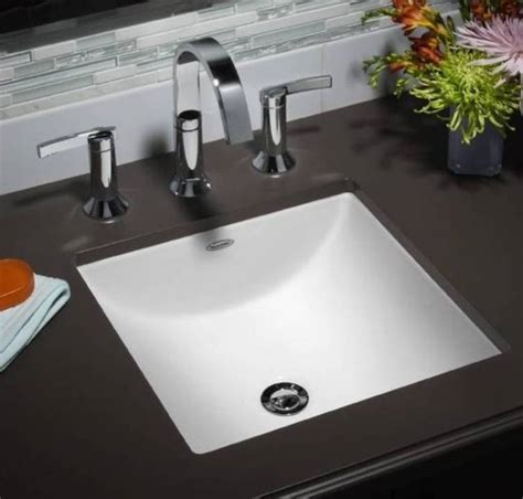 undermount rectangular sinks for the bathroom with a small