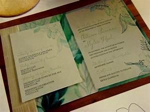 custom hawaiian wedding invitation themed wine glasses With hawaii themed wedding invitations