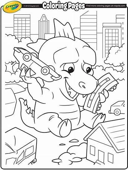 Coloring Crayola Pages Giant Lizard Colouring Sheets