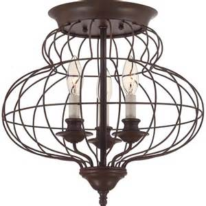 ashley harbour 3 light rustic antique bronze ceiling flush