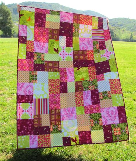 patchwork quilts 50x70 patchwork quilt in random pattern custom order you
