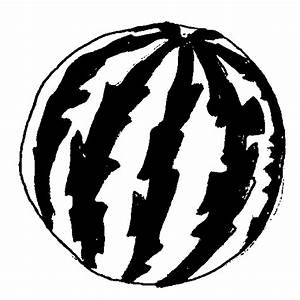 Watermelon clipart black and white - Fruit clip art ...