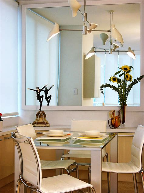 how to make a dining room look bigger mirror design and placement in our space