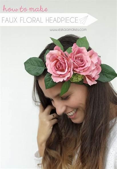 Floral Headpiece Diy Faux Title Eskaamakes
