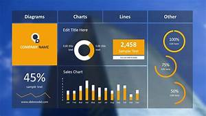 Blur Dashboard Slide For Powerpoint With Blue Background