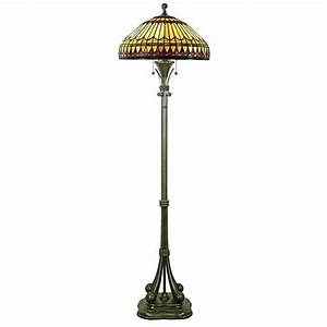 Tiffany floor lamp with feather glass shade 95341 www for Floor lamp with feather shade