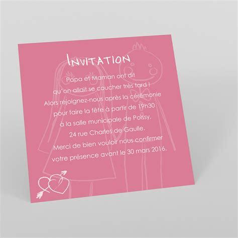 mot mariage carte modele texte anniversaire invitation document