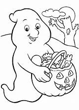 Coloring Funschool Ghost Candy Halloween Much sketch template