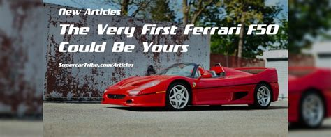The f50 was introduced in 1995 to celebrate the company's 50th anniversary. The Very First Ferrari F50 Could Be Yours - SupercarTribe.com