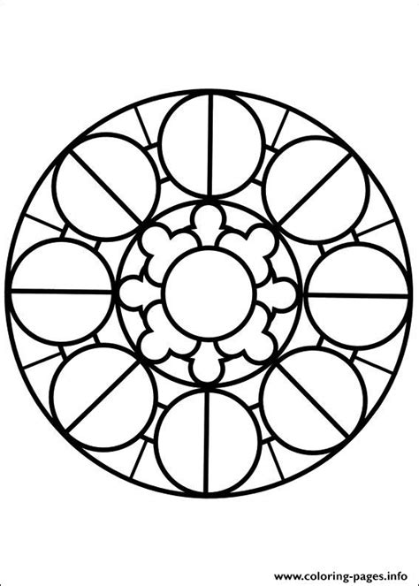 Coloring Easy by Easy Simple Mandala 80 Coloring Pages Printable