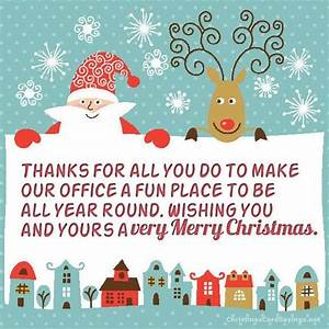 Christmas Card Sayings For Coworkers | Special Day ...